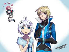 AoH: Daryl and Evelyn :: Gunvolt and Joule by Irismightlikepink