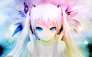 Anime Girl Vocaloid beautiful by Opty-Face