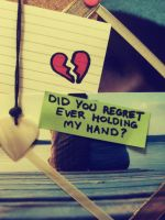 did you regret holding my hand by normaajean