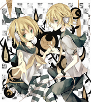 Rin and Len by uly-rainy