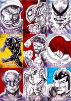 Thor sketchcards A by gammaknight