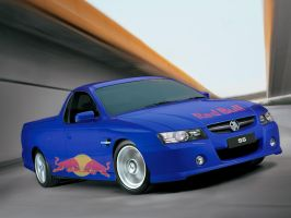 Holden VZ SS ute - Red Bull by ryanthescooterguy