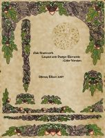 Oak Knotwork Designs - Color by sidneyeileen