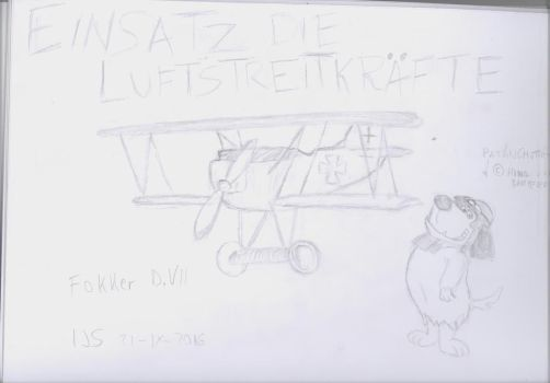 Fokker D.VII Con Patan (with Muttley ) by xxxMakixxx
