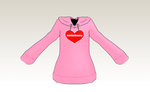 -updated- MMD Pink Hoodie -FLAT- by amiamy111