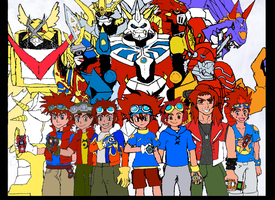 DIGIMON!!! Colored by Omnimon1996