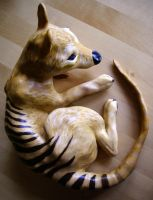 Tasmanian tiger by SundsArt