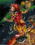 Marvel Universe Dark Phoenix Artists Proof by RichardCox