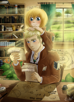 Erwin x Armin - the chief and the apprentice by Isi-Daddy