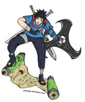 Uchiha Suraisu - Coloured by UchihaFan