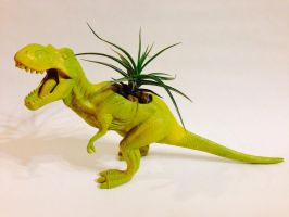 T-Rex Planter by CadmiumCrab