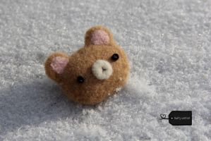 needle felted teddy bear (forsale) by FluffyParcel