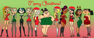 Merry Christmas - Total Drama! by evagimxo
