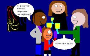 Me and my friends celebrate a new year by mylesterlucky7