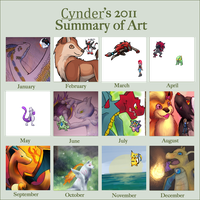 2011 Summary of art by CyndersAlmondEyes