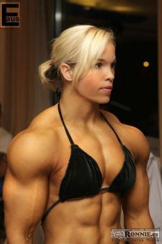 Lovely blondie muscle by Musclelicker