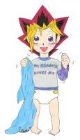 Toddler Yugi by kuri-loves-curry