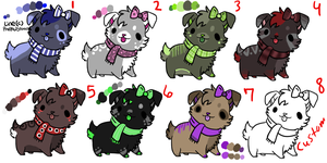 Dog adoptables  (1 left: custom) by SuNnYaDoPtS