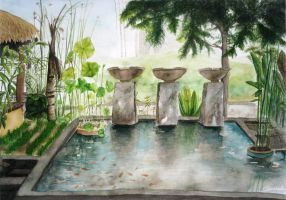 Watercoloured Garden by aneesah