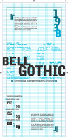 Bell gothic poster by SakeChyan