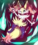 Nic eMemes with Braixen by doveletters