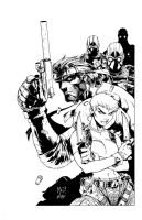 Metal Gear Solid inks by madman1