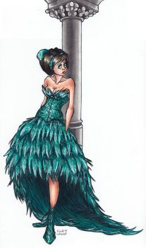 The Feather Dress by TinyQ
