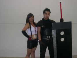 Tifa and Zack by WildFantasy