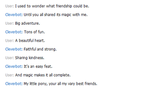Cleverbot is a brony by KeroseneCanine