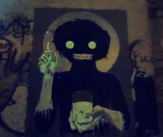 Survival of the Fireflies-StreetArt phosphorescent by Johnny-Aza