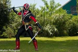 Gedou Shinkenred - Evil Red Ranger COSPLAY by AndreaStarchild
