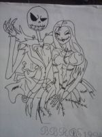 Jack Skellington and Sally by BBRAE1994