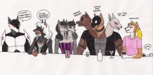 Another Night At The Bar by 13foxywolf666
