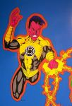 Sinestro Mural Close-Up by DarthPenguin421