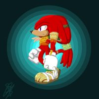 Knuckles in original clothes by BlackBy