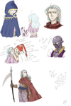 Chrono Doddles: Magus and Fiends by Exekyl