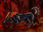 Fire Wolf by I-Luv-Wolves