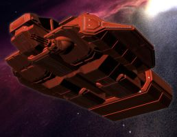 Hasker Combat Shuttle 03 by MADMANMIKE
