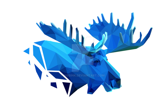 Low Poly Moose (Print Now Available) by Nibbink