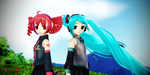 [MMD] Teto and Miku by DevilMMD