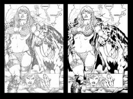 Red Sonja #70 page 1 by Marcio Abreu by TheInkPages