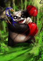 panda vs duck by hot-patato
