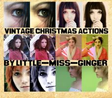 Vintage Christmas Actions by Little-Miss-Ginger