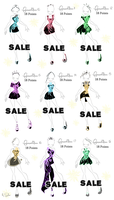 Adoptables Fireworkdresses Set 2 by Coloralecante