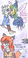 Some rainbow snowcone and foxy lady by Nicktoons4ever