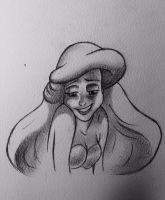 The little mermaid sketch by Aldifuoridime