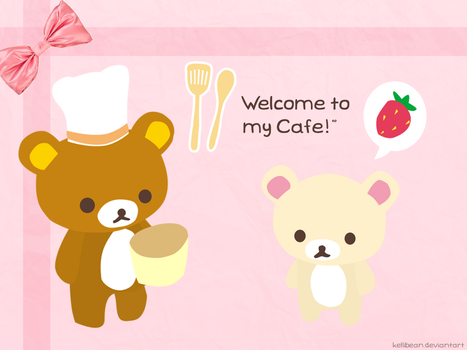 Rilakkuma Cafe Wallpaper by KelliBean