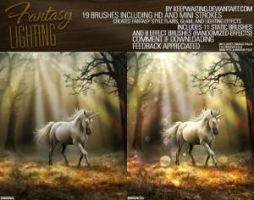 Fantasy Lighting Brushes by photoshopcs8