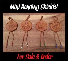 Mini Avatar Inspired Bending Shields FOR SALE! by Miss-Melis