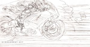 Casey Stoner line art by Kerong